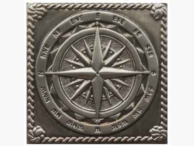 windrose satined black silver Декор настенный 5x5 atlas concorde